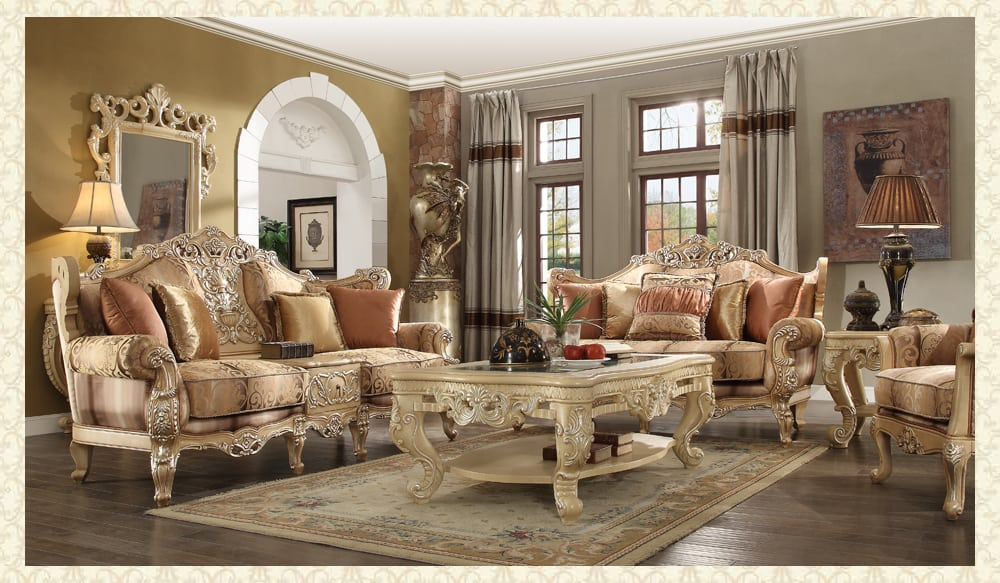 French Provincial Living Room # 1633 - Victorian Furniture