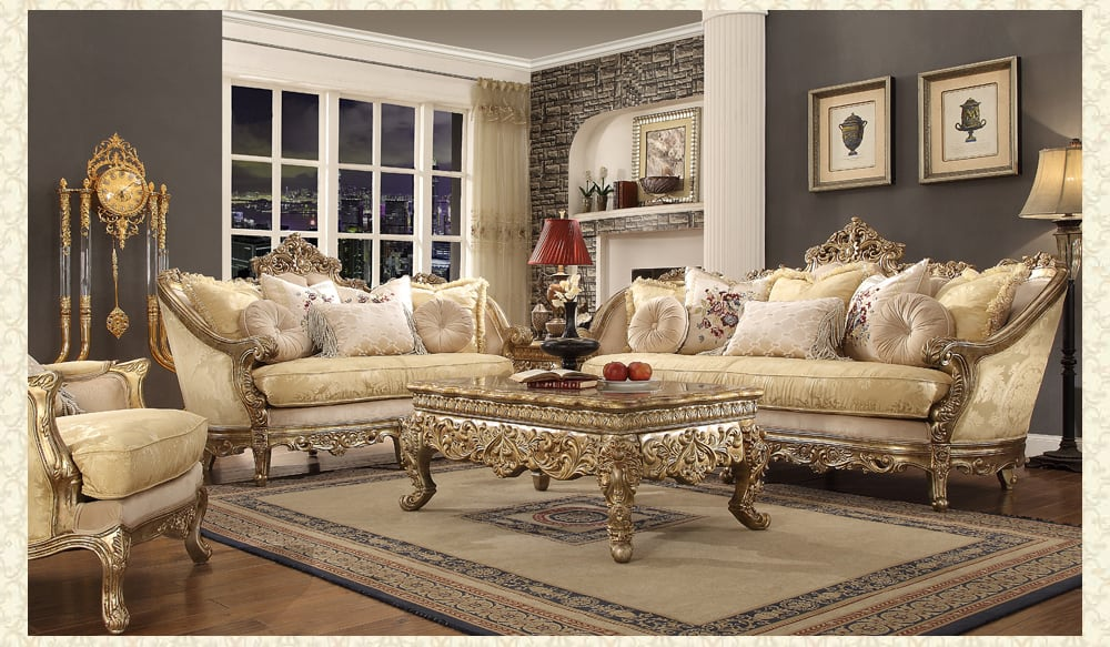 French Provincial Living Room # 2626 - Victorian Furniture