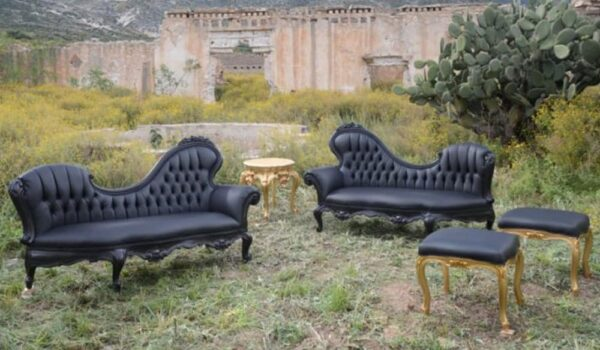 VICTORIAN CHAISE LOUNGE 657-AR (Tight Seat)