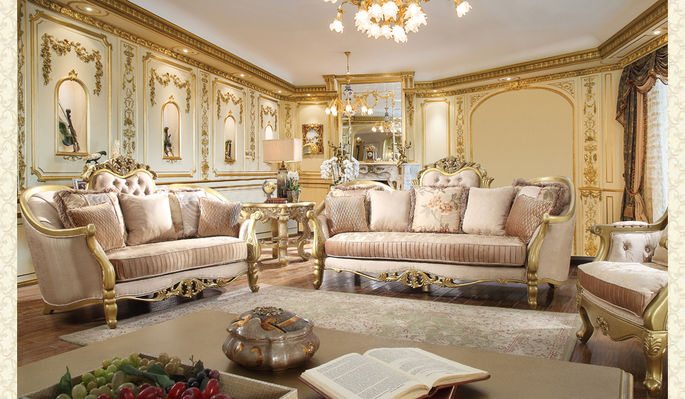 French Provincial Living room 663 - Victorian Furniture