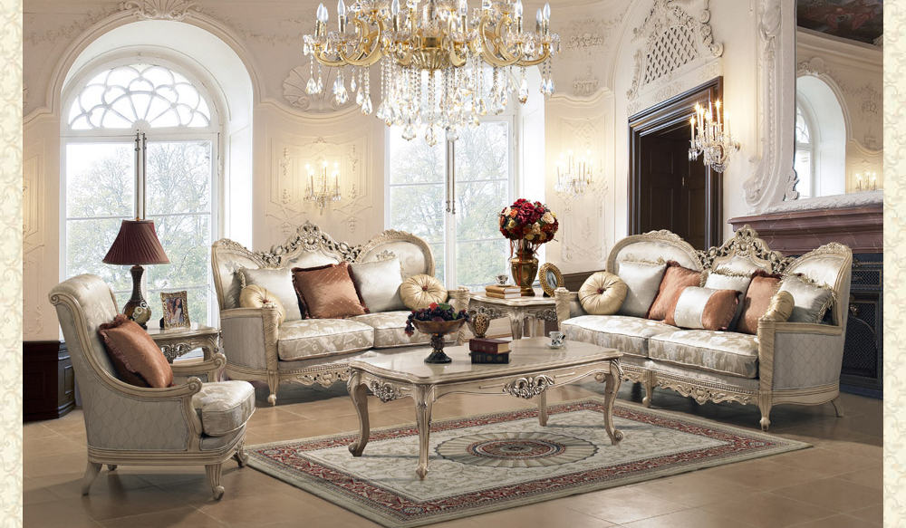 French Provincial Living Room # 9160 - Victorian Furniture