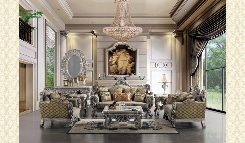 French Provincial Living Room # 9272 - Victorian Furniture