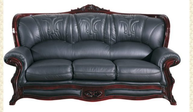 Leather Living Room 701 Ivory Victorian Furniture