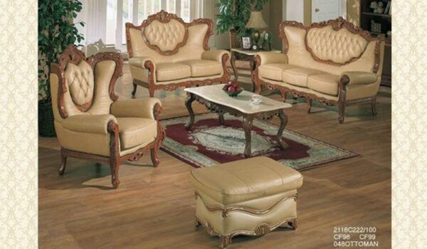 Victorian Leather Living Room 2118
