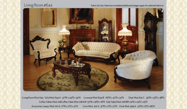 Victorian Living Room 644