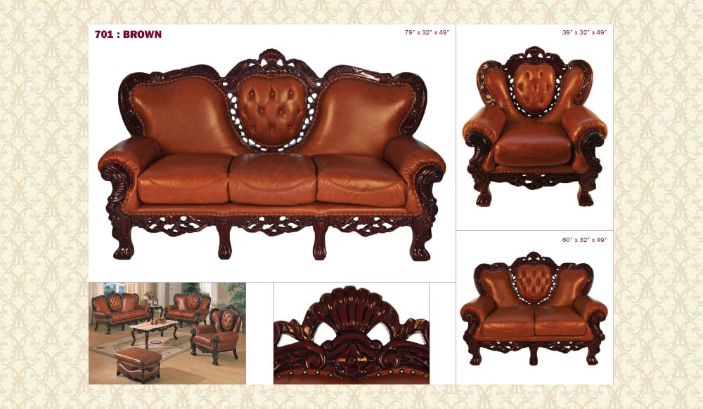 Leather Living Room 701 brg