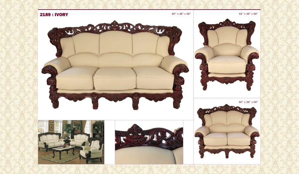 Leather Living Room 2189 iv