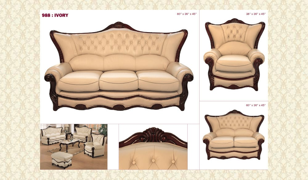 Leather Living Room 989